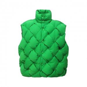 Пуховый жилет Bottega Veneta. Цвет: зелёный
