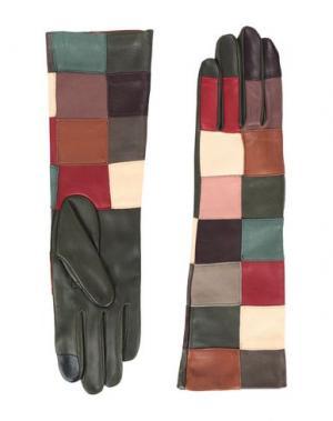 Перчатки AGNELLE. Цвет: зеленый-милитари