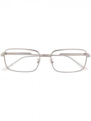 Очки в квадратной оправе Bottega Veneta Eyewear. Цвет: золотистый