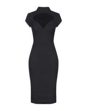 Платье до колена BABYLON. Цвет: черный