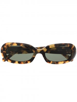 Солнцезащитные очки Retta из коллаборации с POMS Perks And Mini. Цвет: коричневый