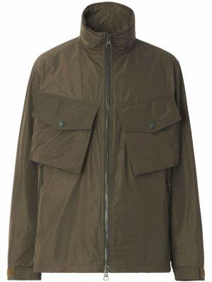Куртка с капюшоном и нагрудными карманами Burberry. Цвет: зеленый