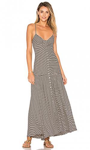 Миди платье с приспущенной талией Mara Hoffman. Цвет: черный