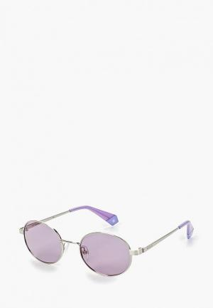 Очки солнцезащитные Polaroid PLD 6066/S B6E. Цвет: серебряный