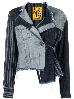 MarquesAlmeida джинсовая куртка асимметричного кроя Marques'Almeida. Цвет: синий