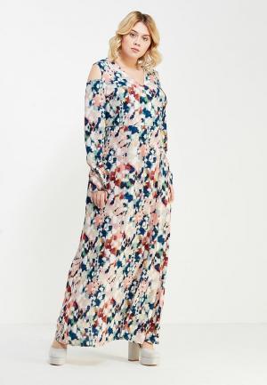 Платье LOST INK PLUS MAXI DRESS IN DREAMSTATE ABSTRACT PRINT. Цвет: разноцветный