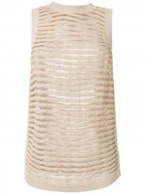 Knitted blouse Nk. Цвет: нейтральные цвета