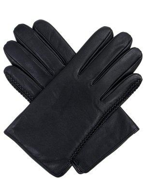 Кожаные перчатки ELEGANZZA. Цвет: черный