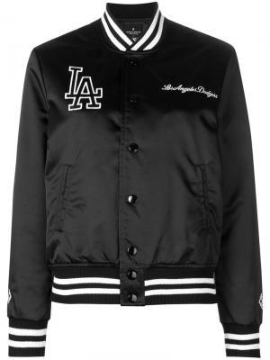 Куртка-бомбер с принтом LA MARCELO BURLON COUNTY OF MILAN. Цвет: черный
