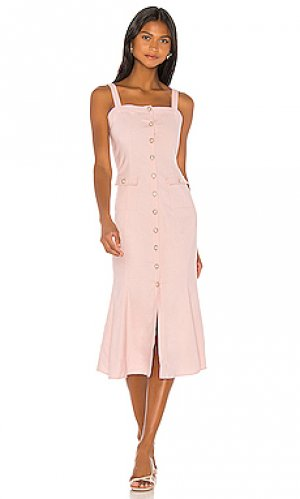Платье миди otis MAJORELLE. Цвет: розовый