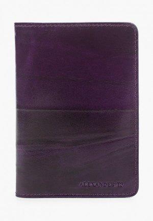 Обложка для паспорта Alexander Tsiselsky Unica. Цвет: фиолетовый