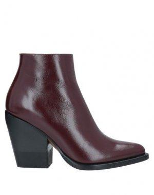 Полусапоги и высокие ботинки CHLOÉ. Цвет: красно-коричневый