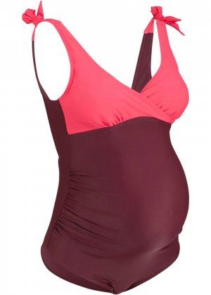 Слитный купальник для беременных bonprix. Цвет: лиловый