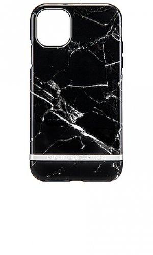 Кейс black marble iphone 11 Richmond & Finch. Цвет: черный