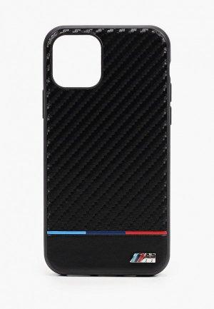 Чехол для iPhone BMW 11 Pro, M-Collection Carbon inspiration PU Tricolor Black. Цвет: черный