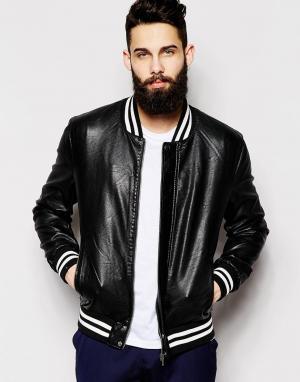 Куртка-пилот из искусственной кожи Only & Sons