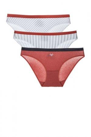 Комплект трусов Dim. Цвет: белый, горошек, красный