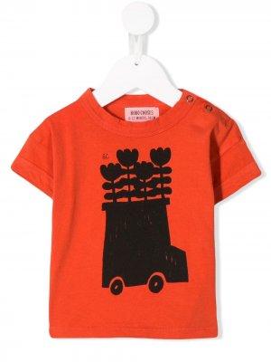 Футболка с принтом Flower Bus Bobo Choses. Цвет: оранжевый