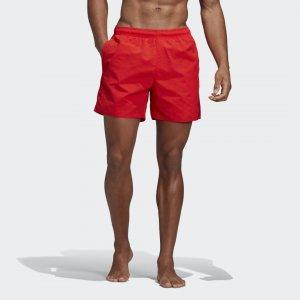 Пляжные шорты Solid Performance adidas. Цвет: красный