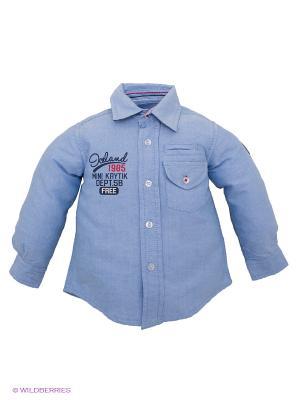 Рубашка Krytik. Цвет: голубой