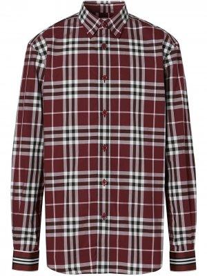 Клетчатая рубашка с длинными рукавами Burberry. Цвет: красный