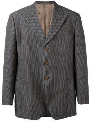 Пиджак в полоску Romeo Gigli Vintage. Цвет: серый