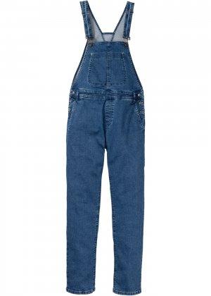 Комбинезон джинсовый стрейчевый bonprix. Цвет: синий