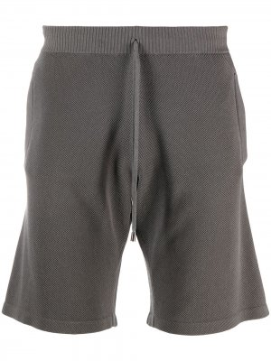 Трикотажные спортивные шорты Cruciani. Цвет: серый