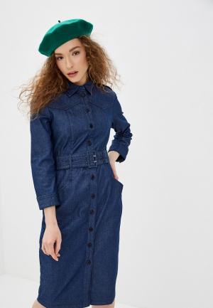 Платье джинсовое United Colors of Benetton. Цвет: синий