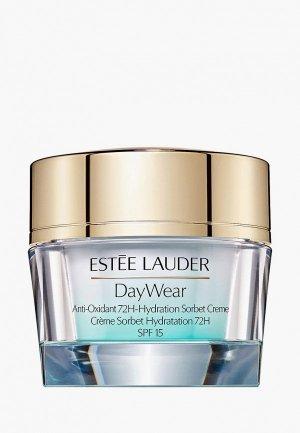 Гель для лица Estee Lauder увлажняющий SPF15 DayWear Anti-Oxidant 72H-Hydration Sorbet Crème. Цвет: прозрачный