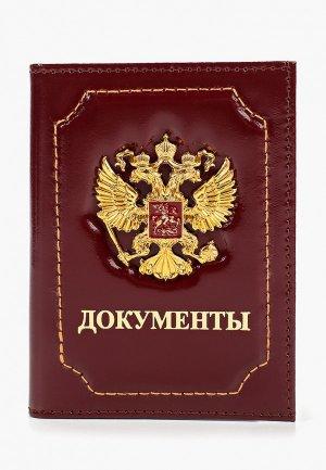 Обложка для документов Forte St.Petersburg. Цвет: бордовый