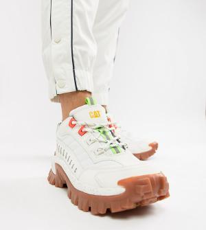Белые кроссовки на толстой подошве CAT Intruder-Белый Footwear
