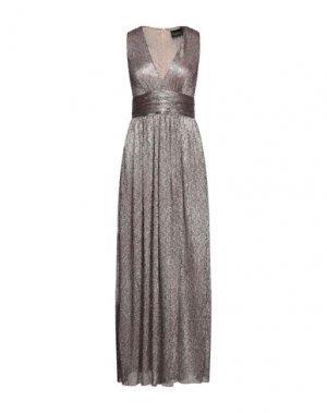 Длинное платье ATOS LOMBARDINI. Цвет: платиновый