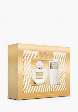 Набор парфюмерный Antonio Banderas Her Golden Secret Туалетная вода 50 мл+лосьон для тела 75 мл. Цвет: прозрачный