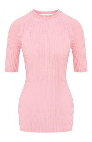 Хлопковый пуловер Victoria Beckham. Цвет: светло-розовый