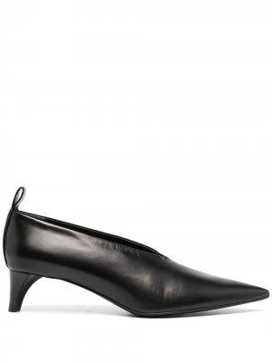 Туфли-лодочки с заостренным носком Jil Sander. Цвет: черный