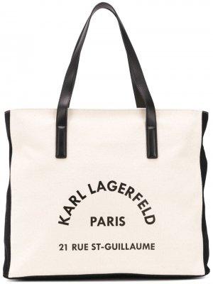 Пляжная сумка K/Rue Lagerfeld Karl. Цвет: белый