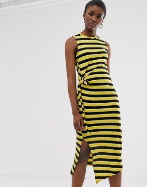 Платье-майка в полоску из органического хлопка -Черный Cheap Monday