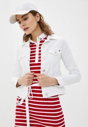 Куртка джинсовая Tommy Hilfiger. Цвет: белый