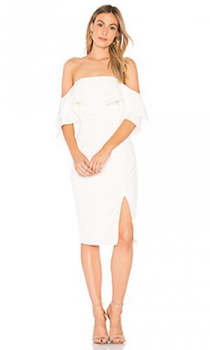 Платье band Bardot. Цвет: белый