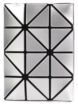 Визитница с геометрическими дизайном Bao Issey Miyake. Цвет: металлический