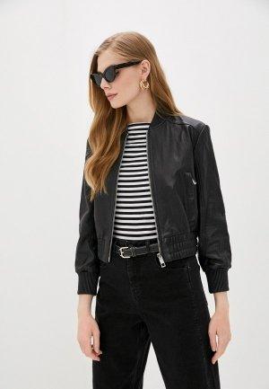 Куртка кожаная Whistles. Цвет: черный