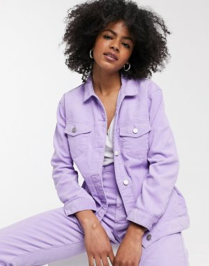 Вельветовая куртка -Фиолетовый Dr Denim
