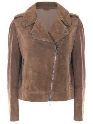 Куртка-косуха замшевая BRUNELLO CUCINELLI
