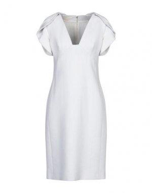 Платье до колена ANTONIO BERARDI. Цвет: светло-серый
