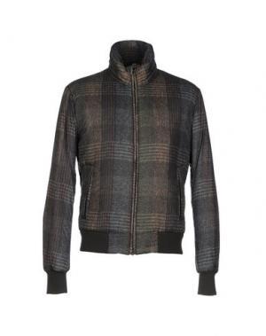 Куртка HARRIS TWEED. Цвет: зеленый-милитари