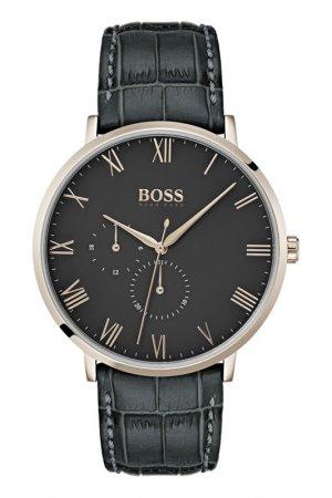 Наручные часы H.BOSS. Цвет: черный