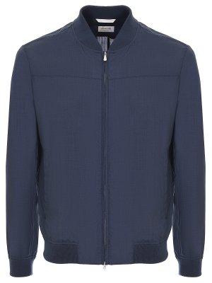 Куртка классическая облегченная BILANCIONI. Цвет: синий