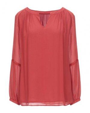 Блузка JEFF. Цвет: красный