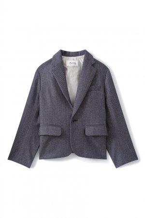 Пиджак из шерсти и хлопка Nigel Bonpoint. Цвет: синий